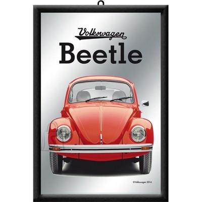 NostalgicArt reklaampeegel VW Beetle punane