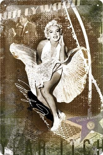 NostalgicArt metallplaat Marilyn Monroe Hollywood