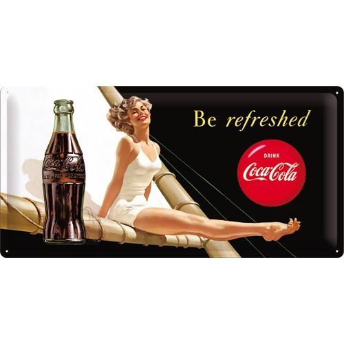 NostalgicArt metallplaat Coca-Cola Be Refreshed