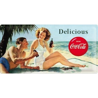 NostalgicArt metallplaat Coca-Cola Delicious