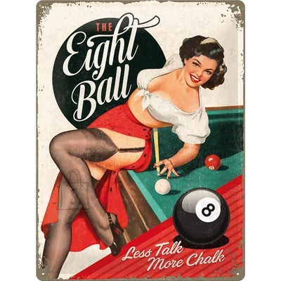 NostalgicArt metallplaat The Eight Ball