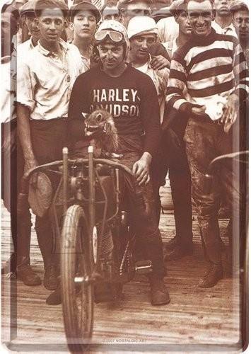 NostalgicArt metallist postkaart Harley-Davidson