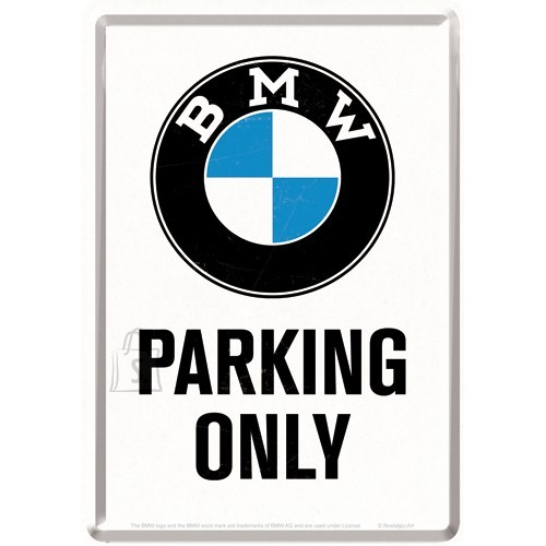 NostalgicArt metallist postkaart BMW Parking Only