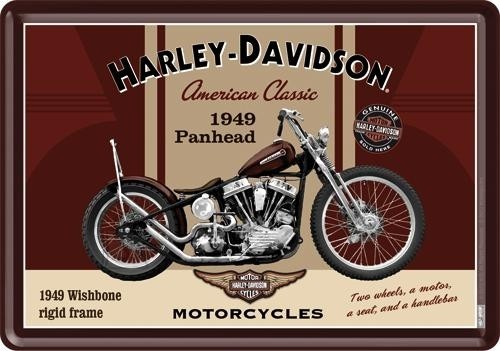 NostalgicArt metallist postkaart Harley-Davidson Panhead