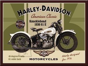 NostalgicArt magnet Harley-Davidson Knucklehead