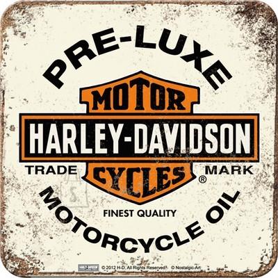 NostalgicArt retro klaasialus Harley-Davidson Pre-Luxe valge