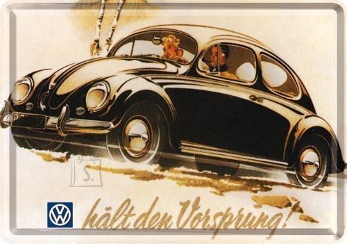 NostalgicArt metallist postkaart VW hält den Vorsprung!