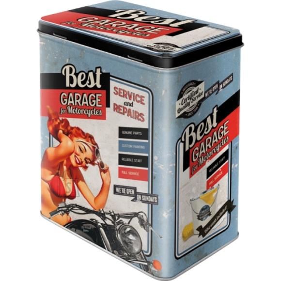 NostalgicArt Metallist säilituskarp Best Garage 3L