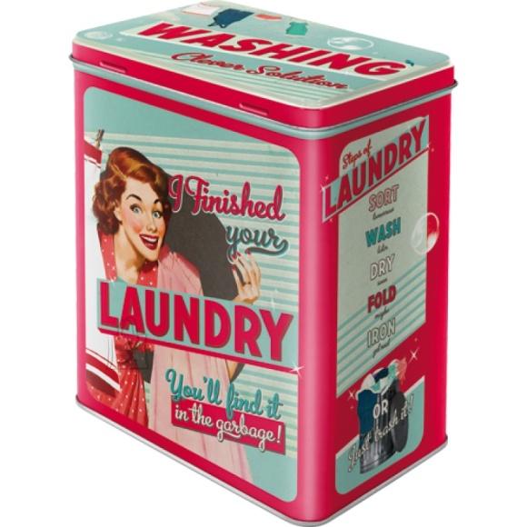 NostalgicArt Metallist säilituskarp Laundry 3L