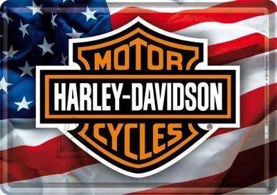 NostalgicArt metallist postkaart Harley-Davidson Ameerika Lipp
