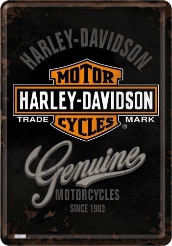 NostalgicArt metallist postkaart Harley-Davidson Genuine logo