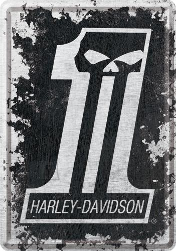 NostalgicArt metallist postkaart Harley-Davidson Skull