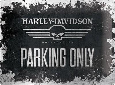 NostalgicArt metallplaat Harley-Davidson Skull Parking only