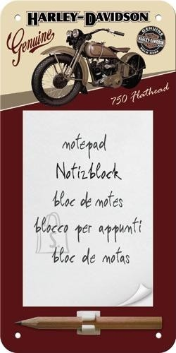 NostalgicArt magnetiga kirjaplokk Harley-Davidson 750 Flathead