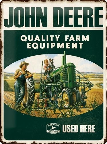 NostalgicArt metallplaat John Deere Quality Farm Equipment