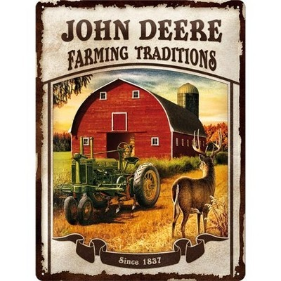 NostalgicArt metallplaat John Deere Farming Traditions