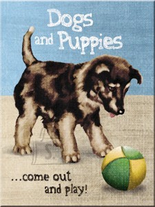 NostalgicArt magnet Dogs and Puppies