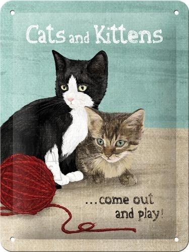 NostalgicArt metallplaat Cats and Kittens