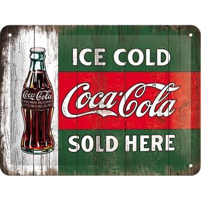 NostalgicArt metallplaat Coca-Cola Ice cold sold here