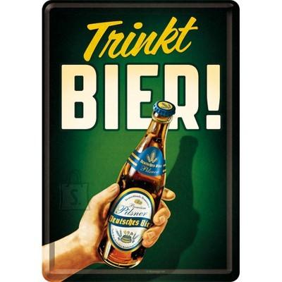 NostalgicArt metallist postkaart Trinkt Bier!