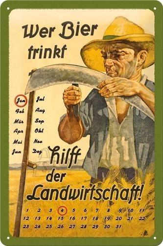 NostalgicArt retro stiilis kalender Wer Bier trinkt