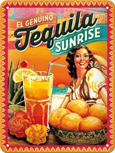 NostalgicArt metallplaat Tequila Sunrise