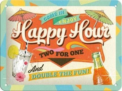 NostalgicArt metallplaat Happy Hour