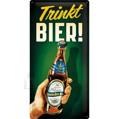 NostalgicArt metallplaat Trinkt Bier!