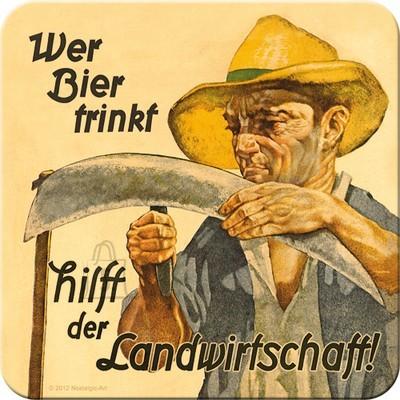NostalgicArt retro klaasialus Wer Bier trinkt