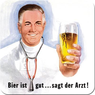 NostalgicArt retro klaasialus Bier ist gut... sagt der Arzt!