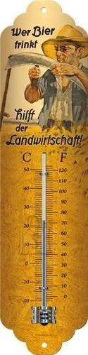 NostalgicArt termomeeter Wer Bier trinkt
