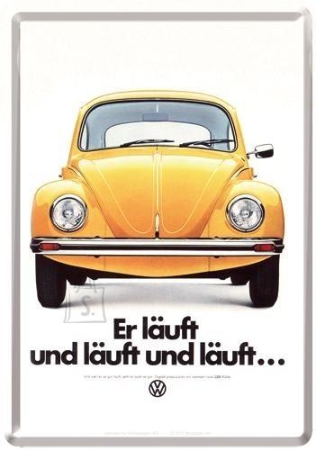 NostalgicArt metallist postkaart VW Er läuft und läuft und läuft…