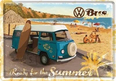NostalgicArt metallist postkaart VW Bus Ready for the summer