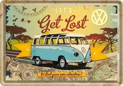 NostalgicArt metallist postkaart VW Let's get lost
