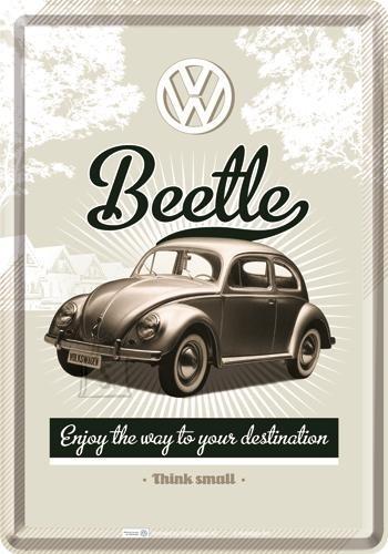 NostalgicArt metallist postkaart VW Beetle