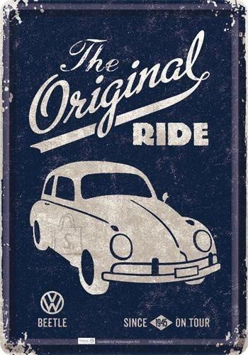 NostalgicArt metallist postkaart VW Beetle The Original Ride