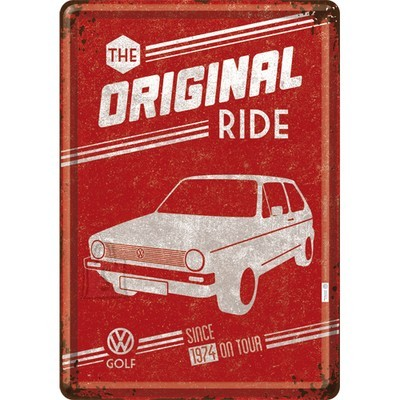 NostalgicArt metallist postkaart VW Golf The Original Ride