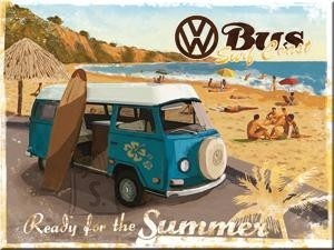 NostalgicArt magnet VW Bus Ready for the summer