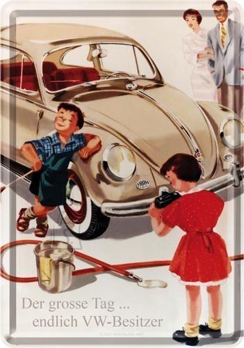 NostalgicArt metallist postkaart VW Der grosse Tag