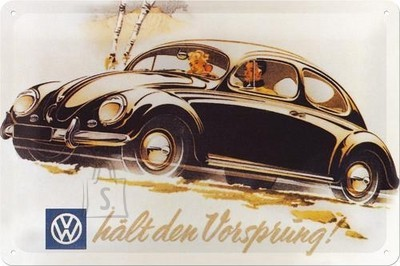 NostalgicArt metallplaat VW hält den Vorsprung!