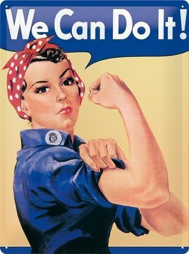 NostalgicArt metallplaat We can do it!
