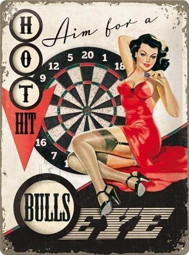 NostalgicArt metallplaat Aim for a bulls eye