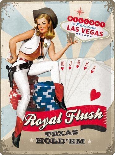 NostalgicArt metallplaat Royal Flush