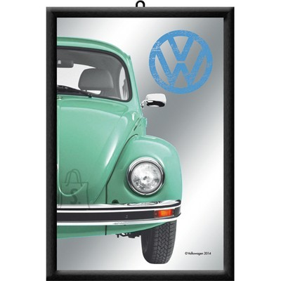 NostalgicArt reklaampeegel VW Beetle roheline