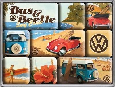 NostalgicArt magnetite sari VW Bus & Beetle 9tk