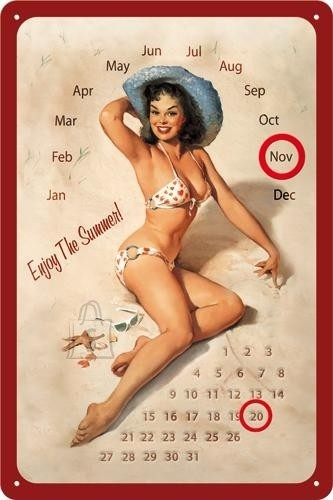 NostalgicArt retro stiilis kalender Enjoy the summer!