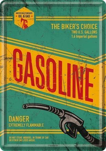 NostalgicArt metallist postkaart Gasoline