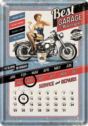 NostalgicArt postkaart-kalender Best Garage