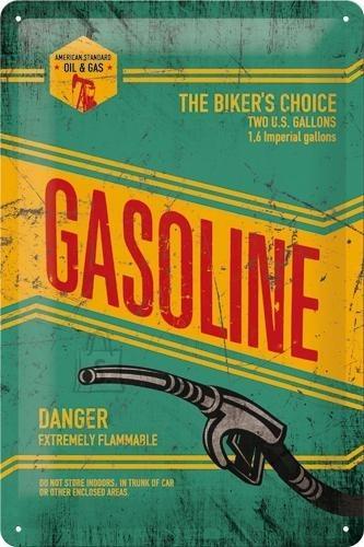 NostalgicArt metallplaat Gasoline