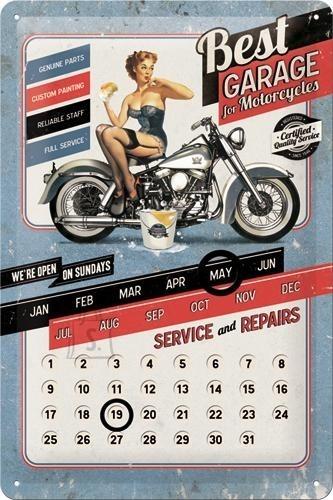 NostalgicArt retro stiilis kalender Best Garage
